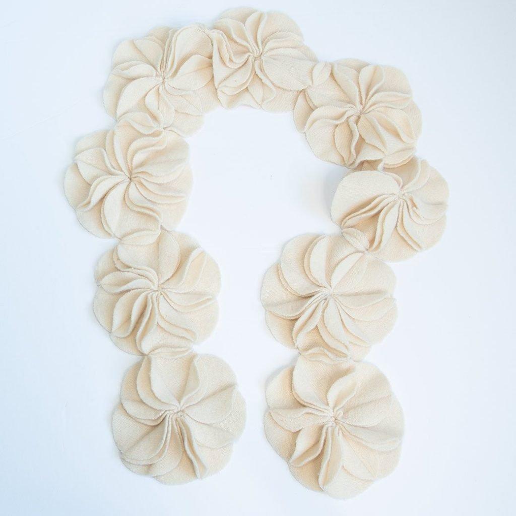 pinwheel scrap scarf