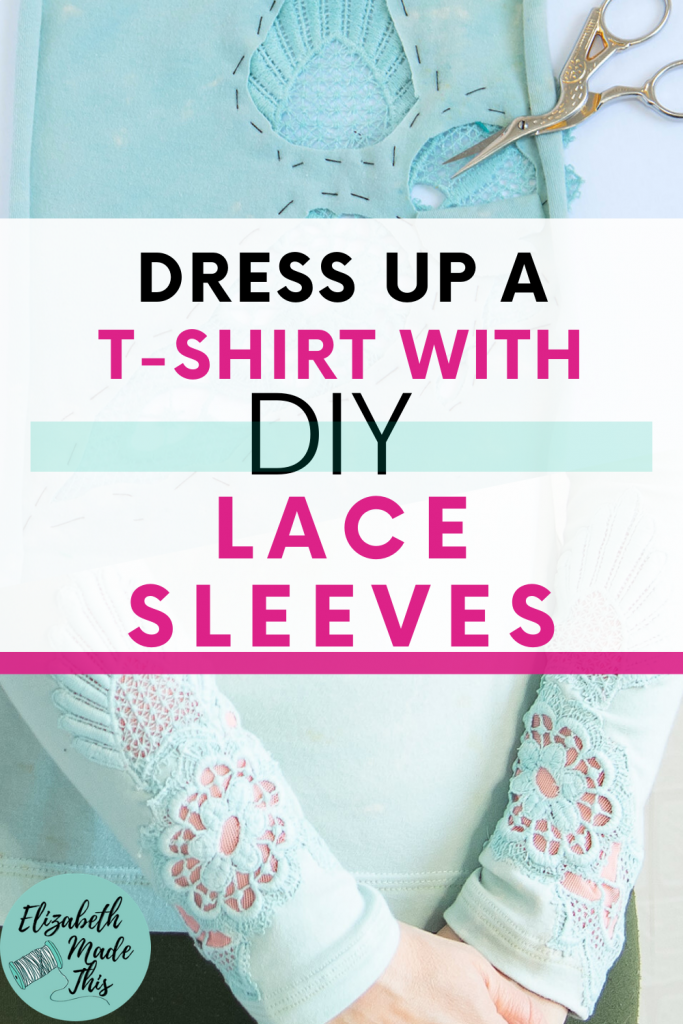 Add lace sleeves to a t-shirt