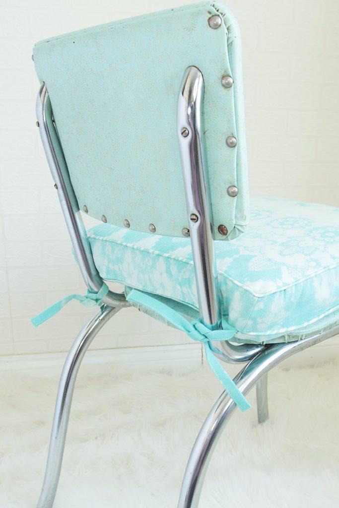 diy chair cushion on chair
