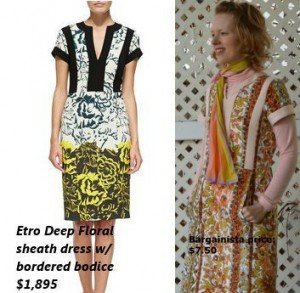 Etro knockoff dress from a tablecloth
