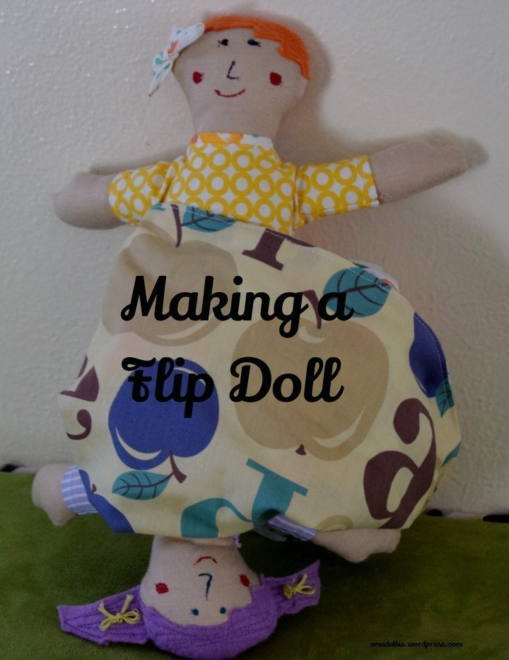 Flip doll: Elizabeth Made This