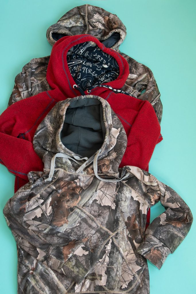 hoodies made with batch sewing