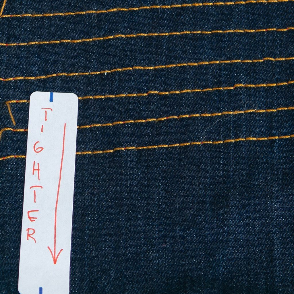 tension on right side of topstitching