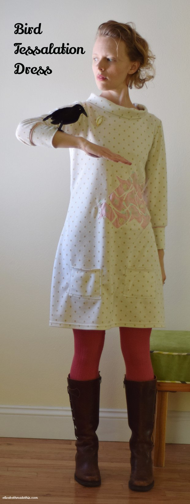 Bird tessalation dress: Elizabeth Made This