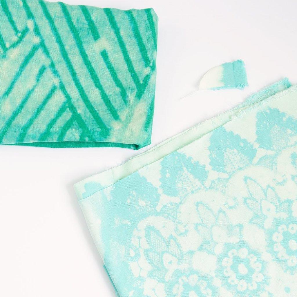 bleach dyed fabrics