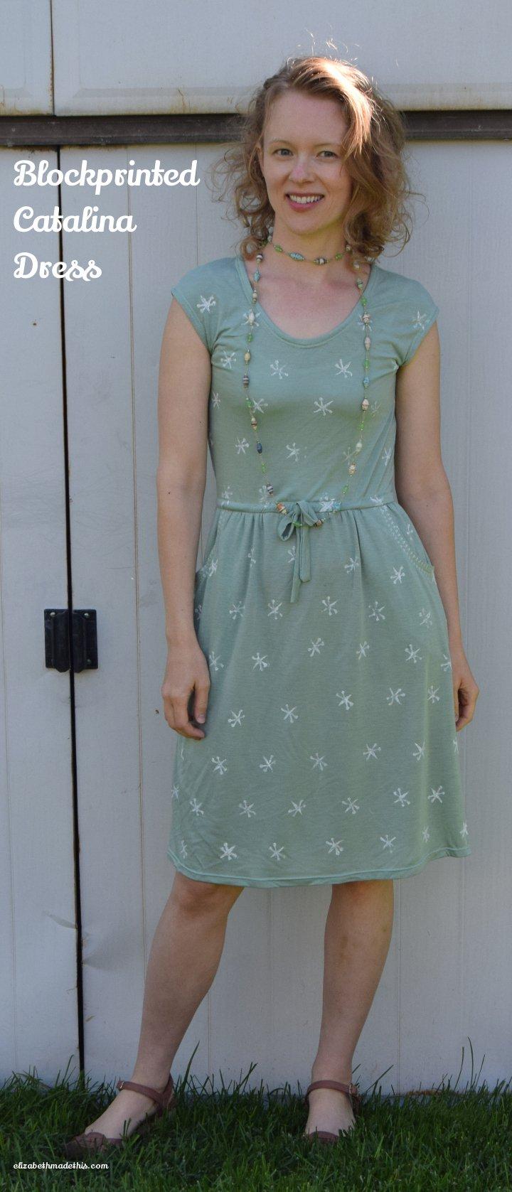 Blockprinted Catalina Dress: Elizabeth Made This