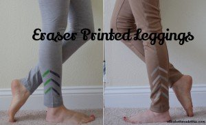 Eraser printed leggings