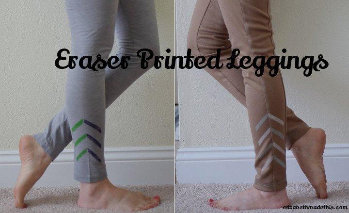 Eraser printed leggings--Elizabeth Made This