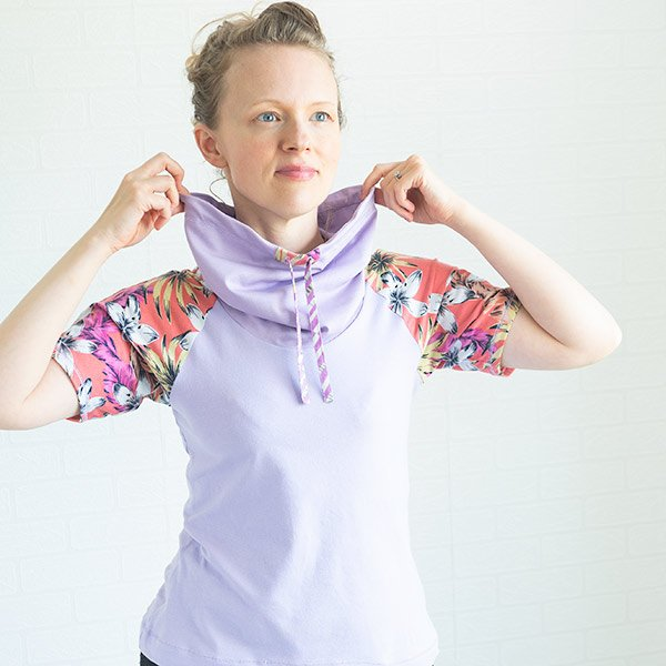 Add a drawstring cowl to any t-shirt