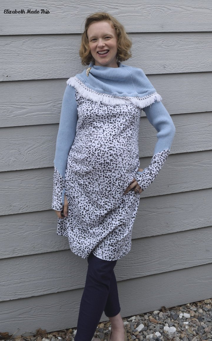 fringe collar dress