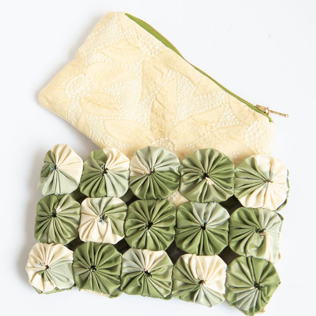 slip the DIY wristlet purse in the overlay