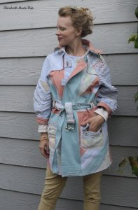 Jeanius Pastel Denim Trench Coat