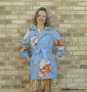 Vintage Vera Applique Trench Coat