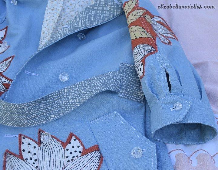 applique trench coat