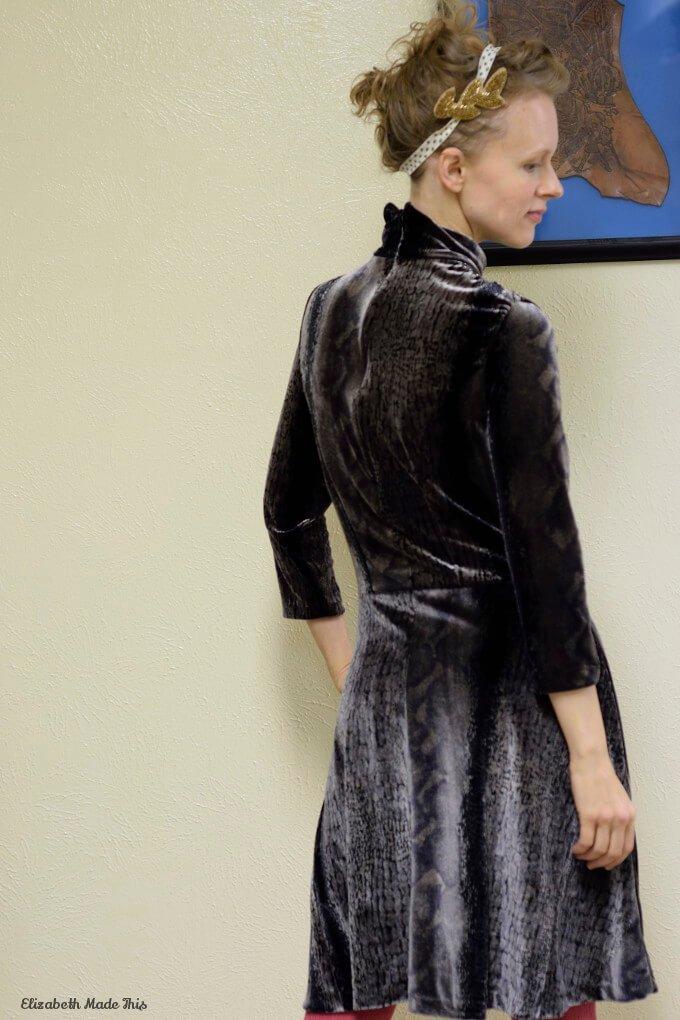 stretch velvet dress