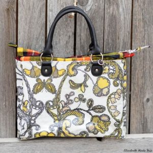 Spice dyed coloring book bag: Adventures in natural dyes