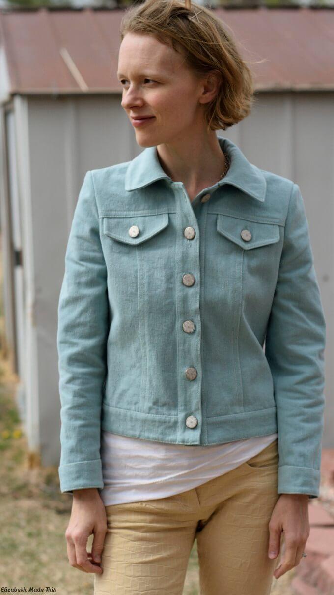sea glass denim jacket