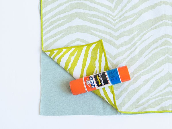 glue stick + fabric