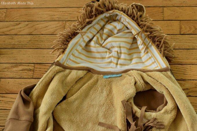 diy lion hoodie