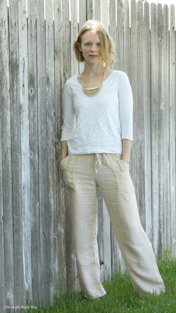 Herringbone linen Blank Slate Oceanside pants