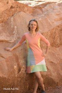 colorblocked Patternreview Winter Street dress