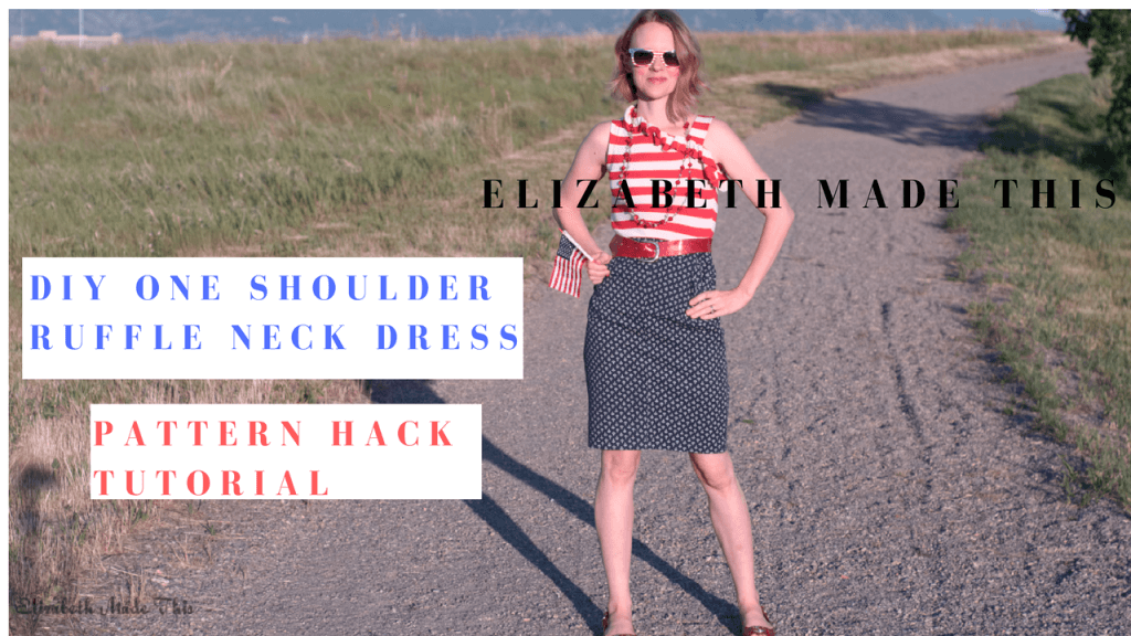 DIY One Shoulder Ruffle Neck Dress: Pattern Hacker Episode #2