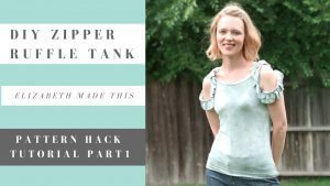 DIY Zipper Ruffle Tank videos!