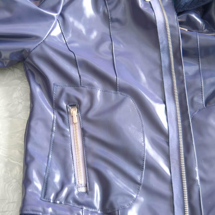 Rose Tyler cosplay jacket pocket close up