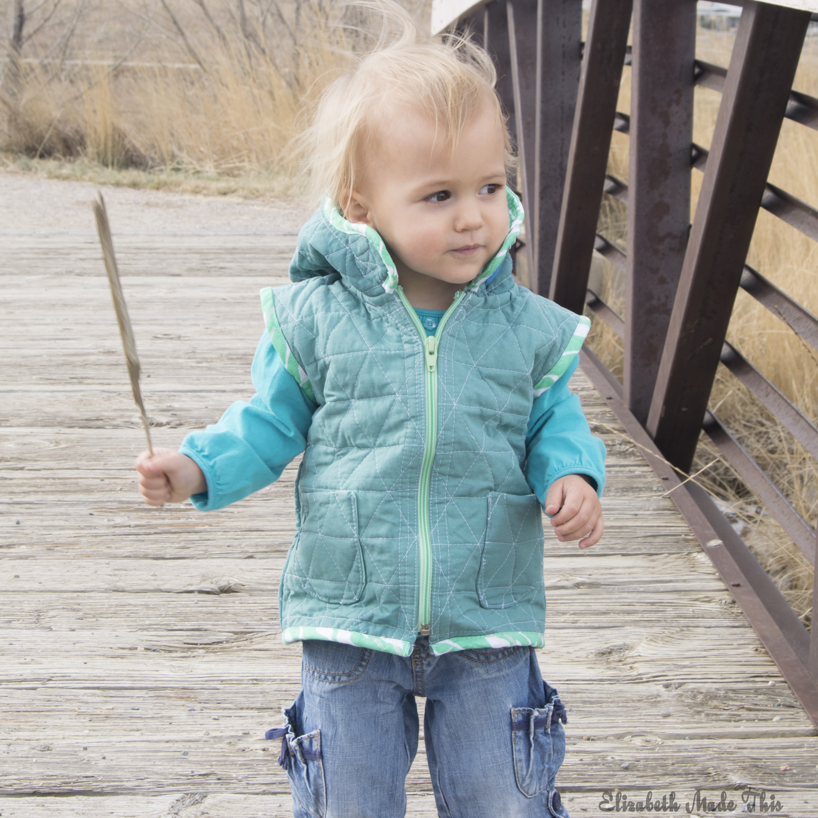 toddler quilted vest