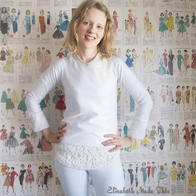 Sew a lace back sweater
