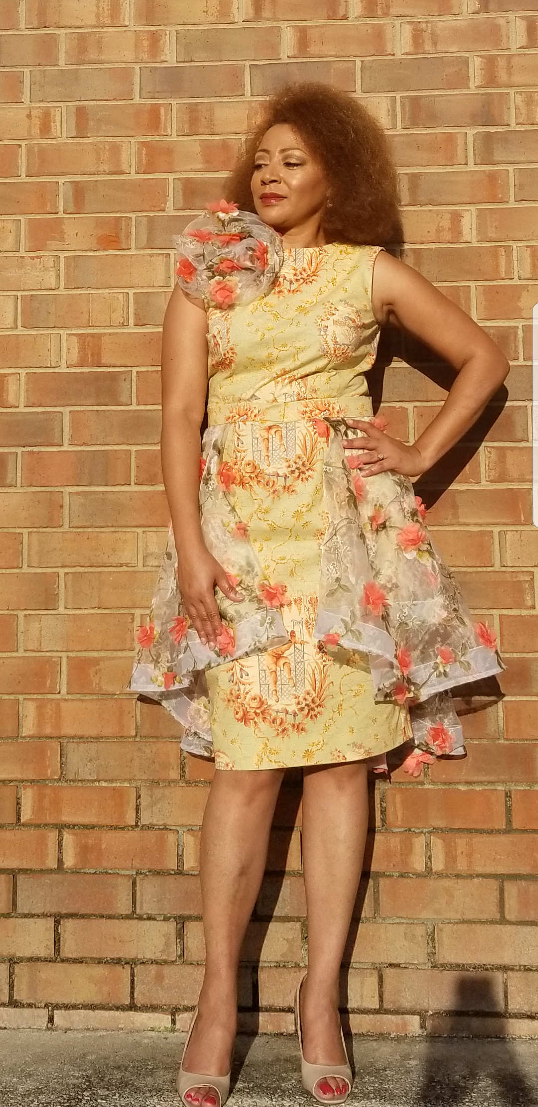 Picture of  Alethia of Sew Much Talent for the 2019 Day and Night Dress Challenge bloggers&  vloggers