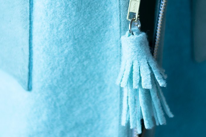 wool zipper tassel