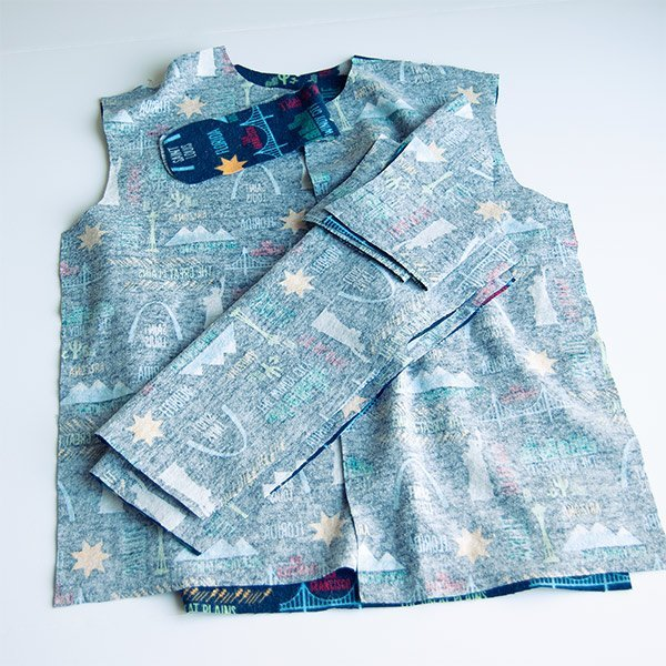 shirt stacked in construction order