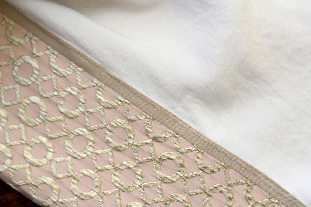 gold brocade closeup