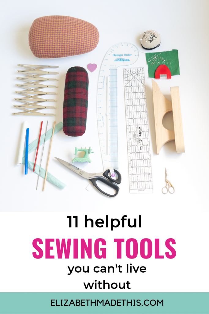 pin image: 11 HELPFUL SEWING TOOLS