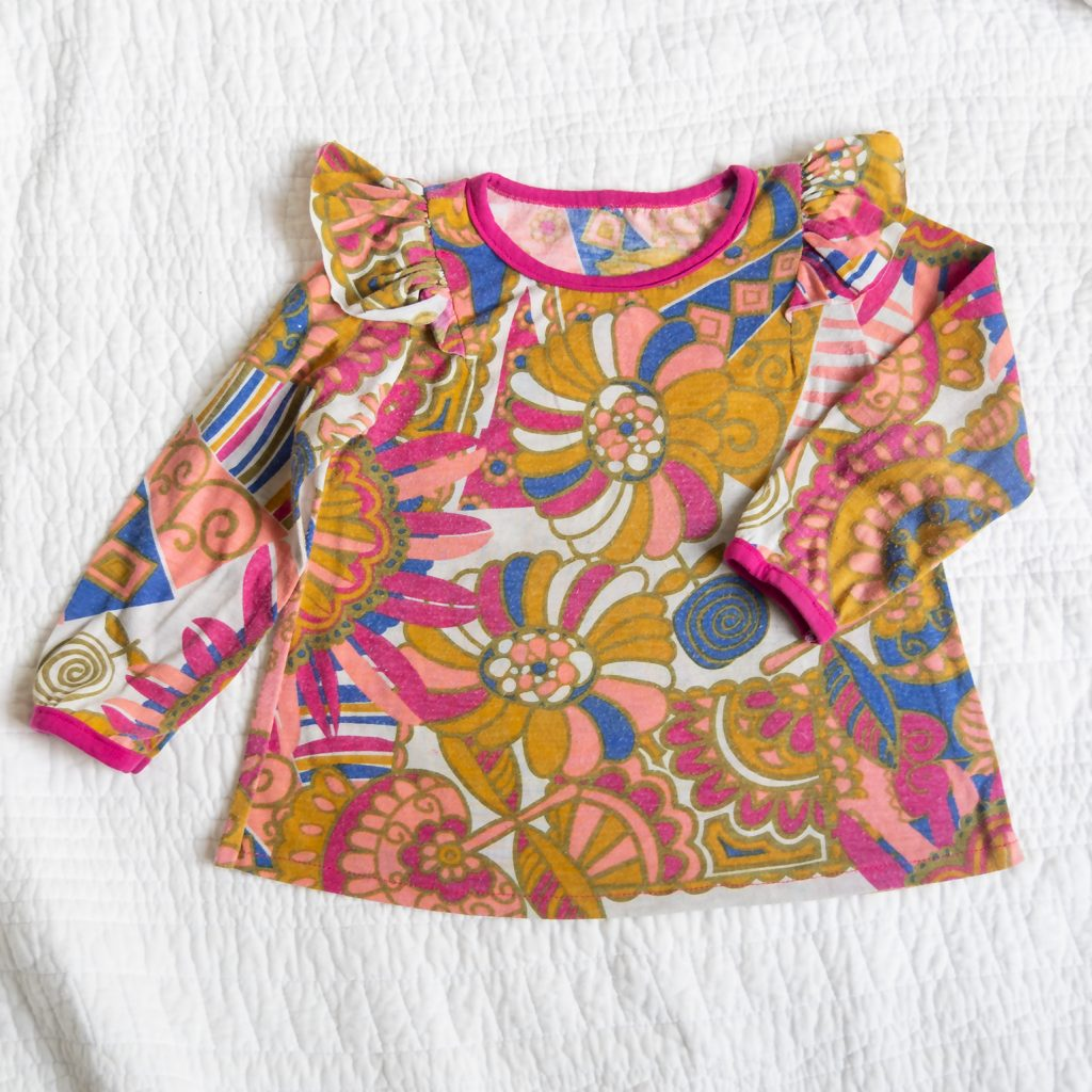 Ottobre floral knit top for toddler
