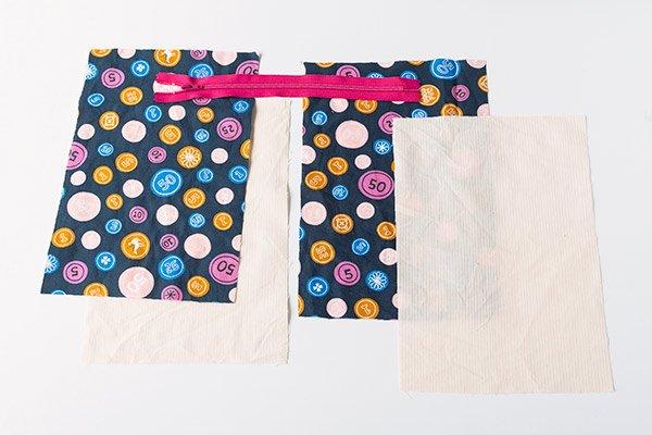7 minute DIY zipper bag pieces
