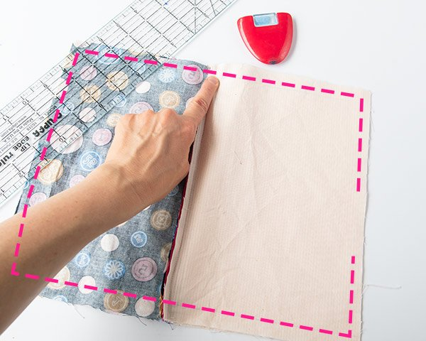 where to sew zipper bag