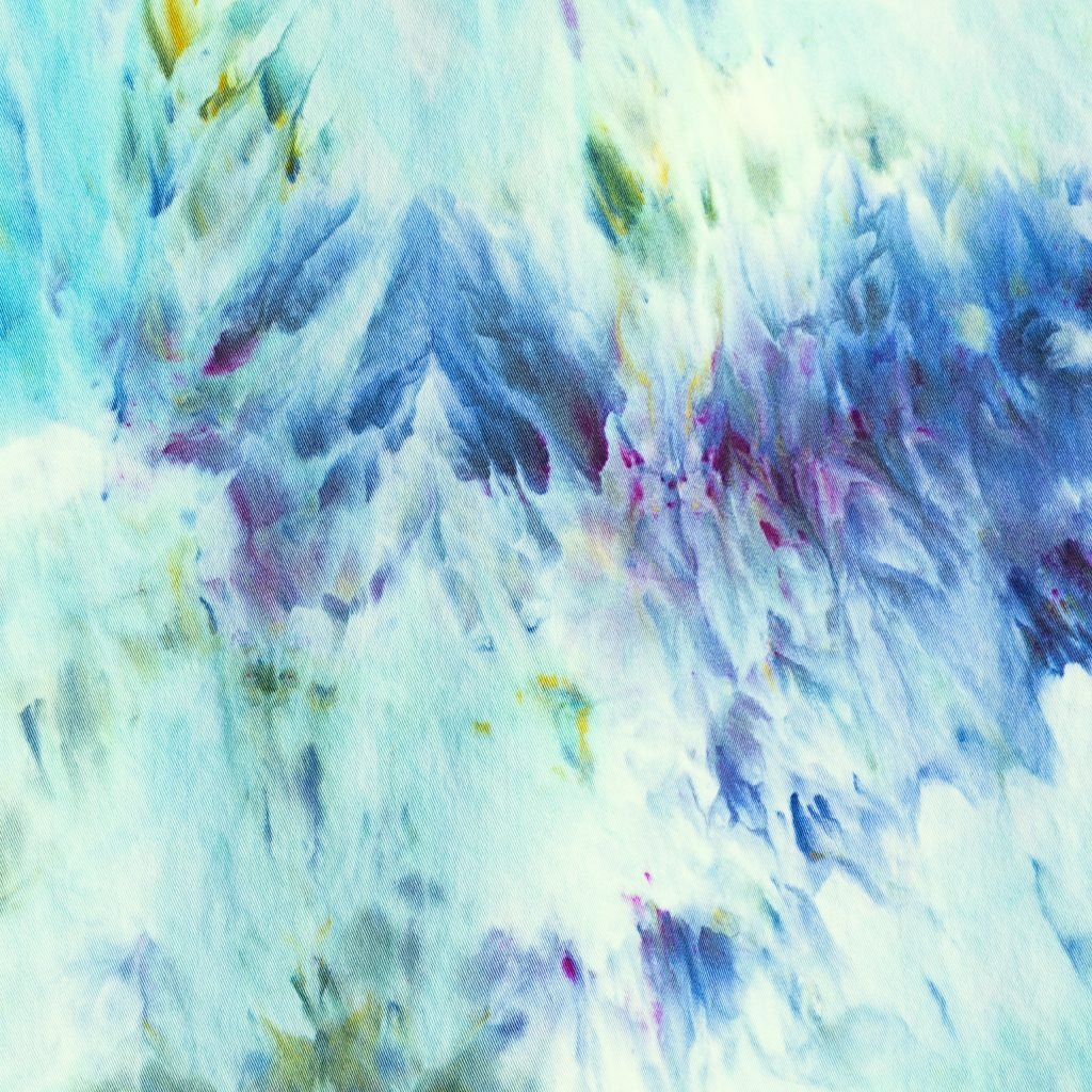 closeup of ice dye fabric