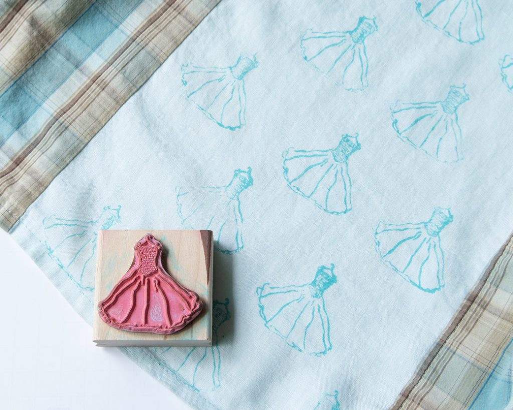 stamp and stamped fabric