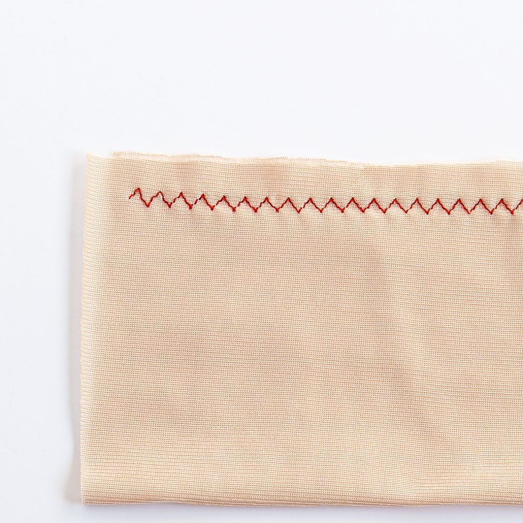 3 step zigzag stitch on nylon tricot