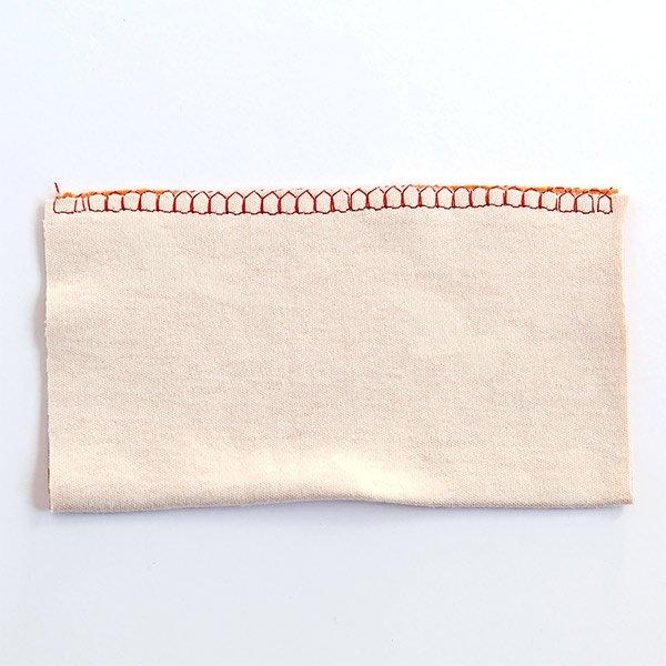 overlock stitch on cotton knit