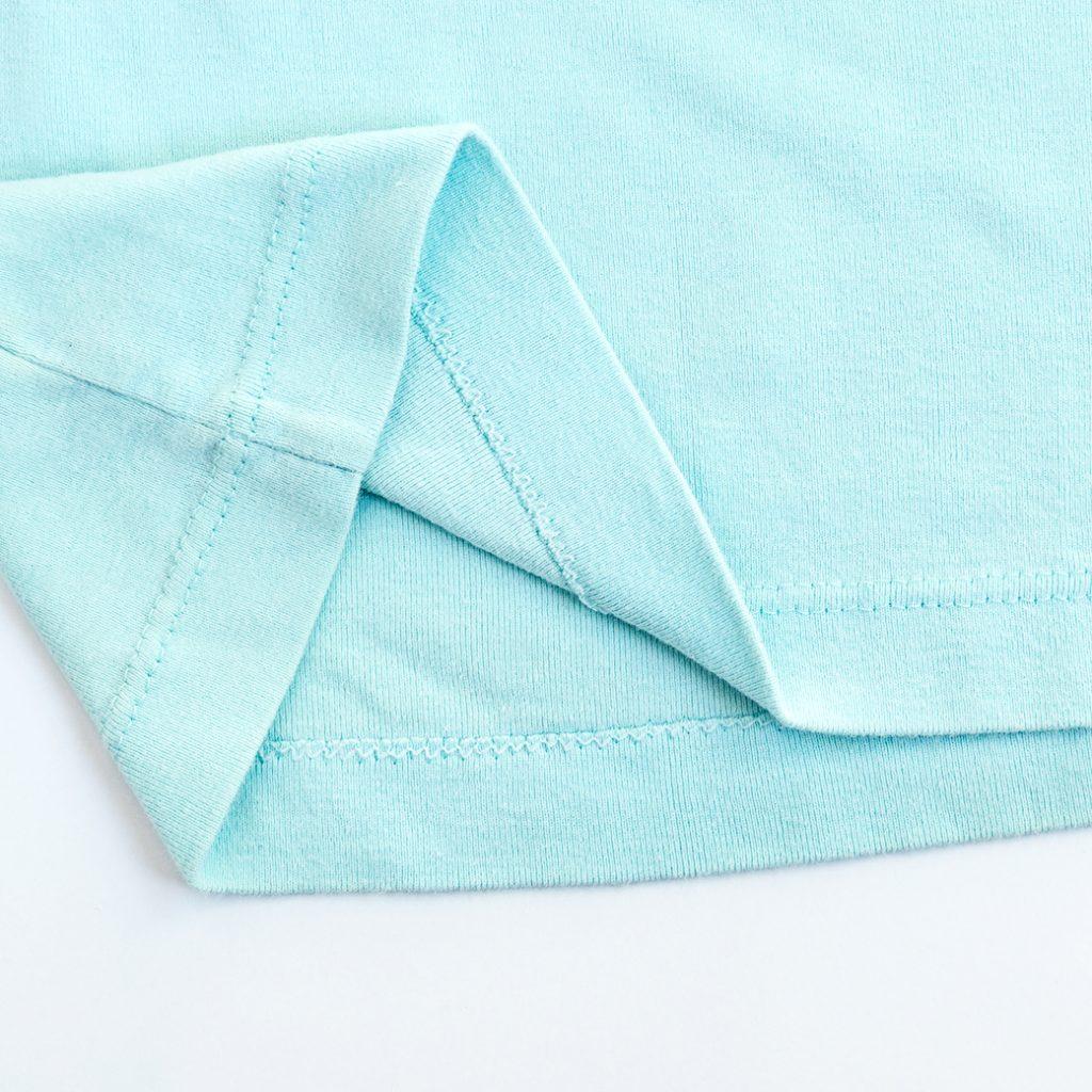double needle hem on cotton knit