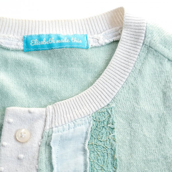 sweater knit neckline with double needle