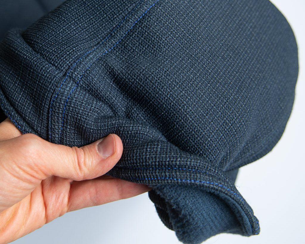 topstitching on windbloc fleece