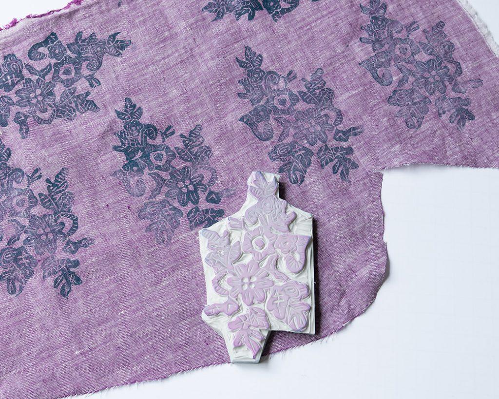 blockprint block and fabric