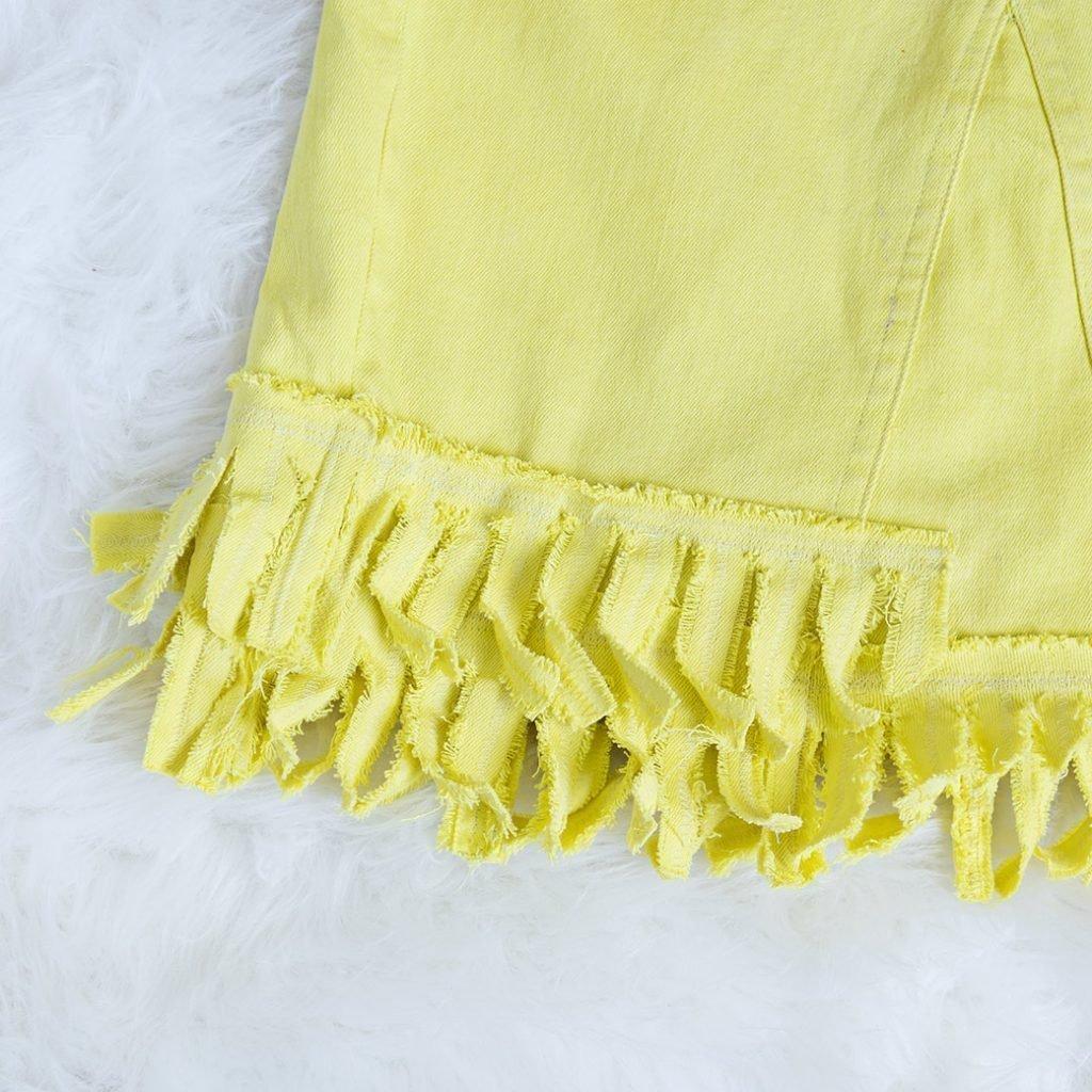 denim skirt refashion with fringe