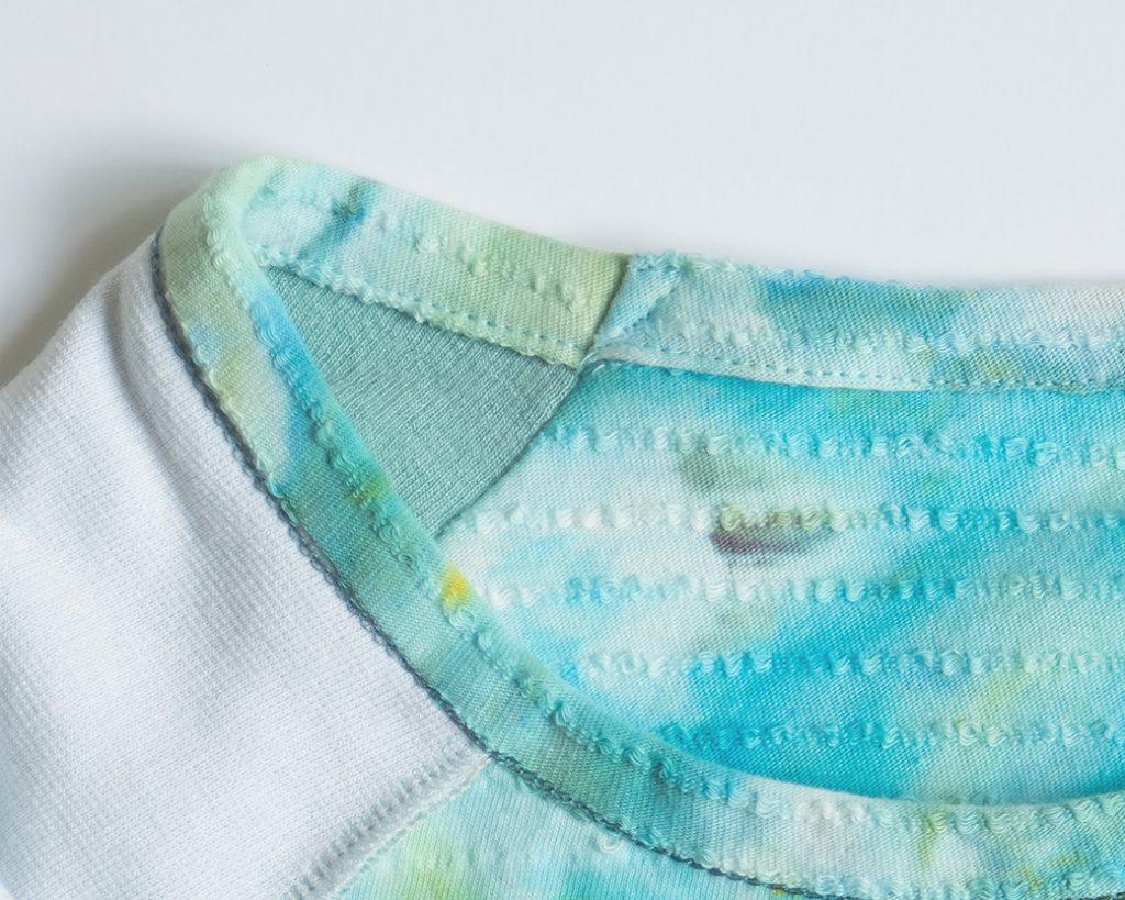 stitching down neck binding seam