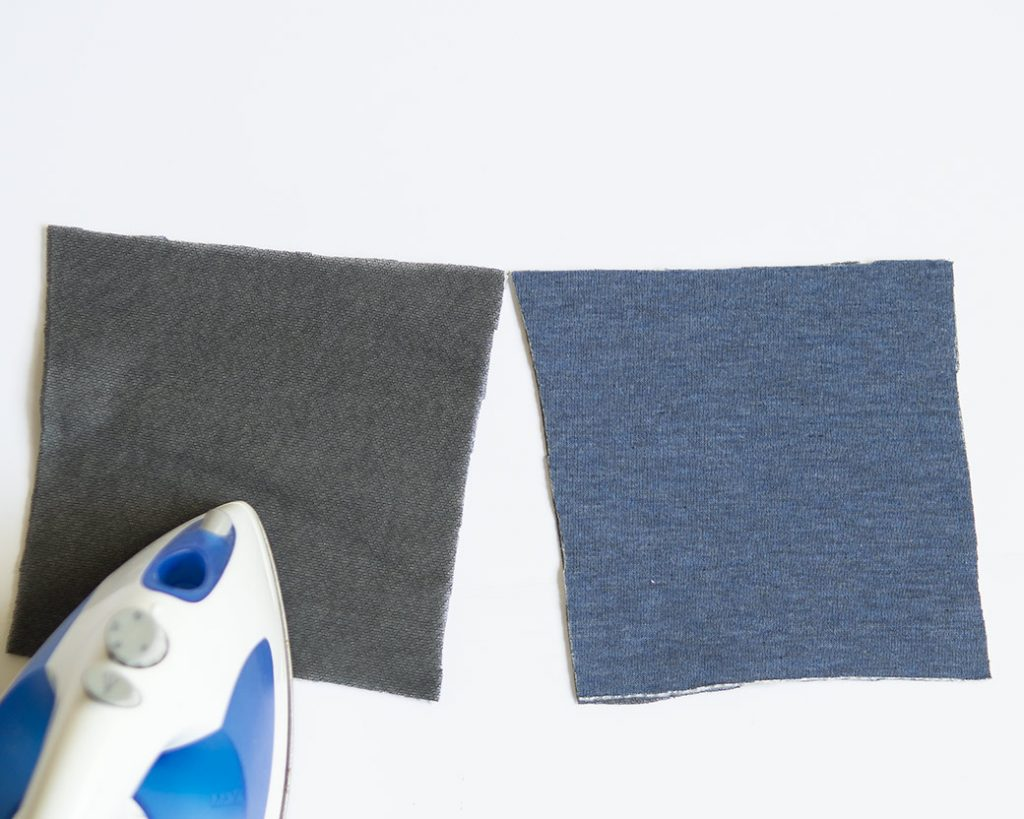 adding interfacing to sew knee patches
