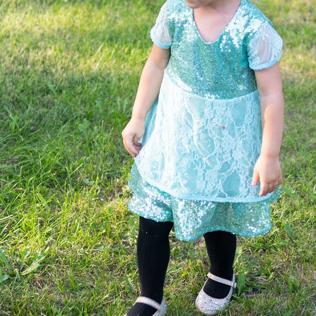 sequin toddler dress
